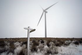 White Hill Wind Farm in the snow