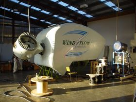 A nacelle built by Windflow Technology